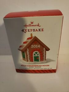 2014 Hallmark Keepsake Ornament Jolly Gingerbread House New In Box