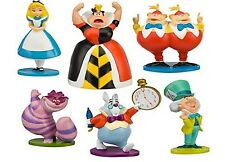 Disney Alice In Wonderland 6pc Birthday Cake Topper Figurines Toy Set USA