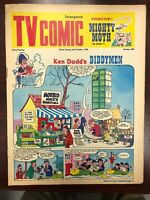 TV COMIC #880 weekly British comic book October 26 1968 Doctor Who in full color