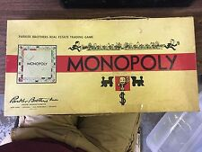 VINTAGE 1954 MONOPOLY BOARD GAME BY PARKER BROTHERS COMPLETE