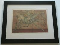 Frederic Bouche VINTAGE LITHOGRAPH ABSTRACT CUBISM French MODERNISM NUDE SIGNED