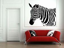 Wall Vinyl Sticker Decals Mural Room Design Art Zebra Head Animal Decor bo764