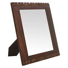 Dark Wood Photo Frame with Mosaic Detail, 8 x 10 inch