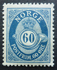 Norway #58 Very Finely Centered Mint (Hr) Cat.$ 62.50