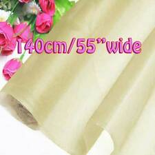 6 Yards Ivory Pure Silk Organza Bridal Dress Fabric 140cm Sheer Tulle Voile