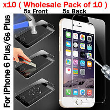 Wholesale Pack x10 Job Lot Tempered Glass Screen Protector For iPhone 6s Plus