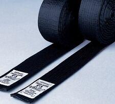 Budo Gürtel schwarz, aus Kunstseide 4cm. Dan Rho. Karate, Taekwondo, Judo, Ju Ju