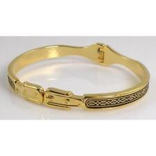 Damascene Gold Cuff Bracelet Geometric by Midas of Toledo Spain style 8007Geo