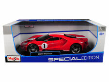 NEW MAISTO 1:18 SPECIAL EDITION 2017 FORD GT DIECAST CAR RED 31384