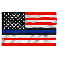 Anley 3x5 Ft Blue Lives Matter American USA Police Flag Law Enforcement Officers