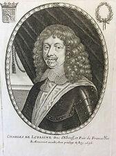 Charles de Lorraine Duc d'Elbeuf par Balthazar MONTCORNET 1656 XVIIe