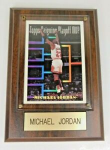 "Michael Jordan - 1993 Topps Reigning Playoff MVP - 4.25"" x 6"" Wood Plaque"