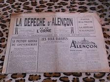 Journal - La Dépêche d'Alençon et de l'Ornen° 20, 10/03/1949