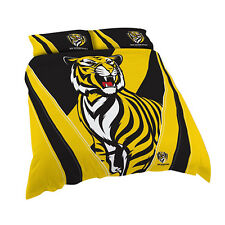 Richmond Tigers AFL DOUBLE Bed Quilt Doona Duvet Cover Set NEW 2018*