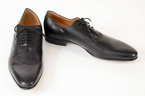 Gucci black 9.5 leather round toe lace up derby oxford UK8.5 shoe NEW $595