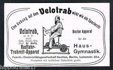 BERLIN, Werbung 1904, Radfahr-Trabreit-Apparat, Velotrab, Fitness, Reklame /28