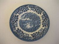 Churchill Fine English Tableware English Scene Blue Dessert/Appetizer Plate New