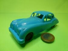 VINTAGE PLASTIC JAGUAR XK120 - BLUE L12.0cm RARE - GOOD CONDITION
