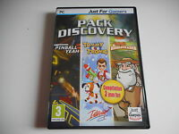 PC CD-ROM - 3 JEUX -   PACK DISCOVERY+Tommy Tronic+Pinball Yeah+Homesteader