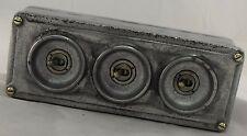 Nueva cosecha de metal fundido industrial 3 Gang Interruptor De La Luz-Bs en aprobado