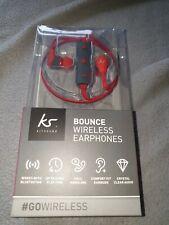 KitSound Bounce Wireless Earphones - Red