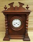 Antigua muy bonito reloj vintage de madera para apoyar, francesa antiguo clock