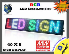 """40""""x8"""" Semi Outdoor WIFI APP LED Scrolling & Programmable Sign - RGB Display"""