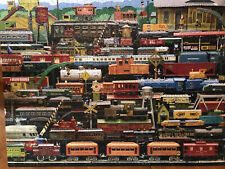 White Mountain Puzzles All Aboard! Antique Model Trains #629S 1000 Pc. USA Made