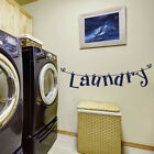 Laundry Room Wall Sticker Removable Home Decor Vinyl Arts Mural De O❤