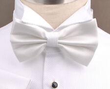 Sexy White Marcella Tuxedo Wedding Shirt Formal Bow Tie Neck Designer Luxury B2B