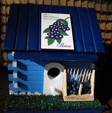Maine Blueberry Log Cabin Bird House