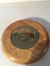 40 YEAR Nautical PERPETUAL CALENDAR Hand crafted Wood Paperweight 2005-2044