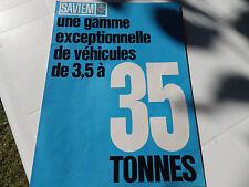 SAVIEM RENAULT CAMION  BROCHURE GAMME SAVIEM  S5-S6 DE 3.5 T A 35 T