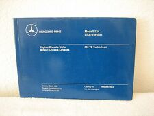 1986-87 Mercedes-Benz 300TD Turbodiesel Modell 124 Parts Catalog