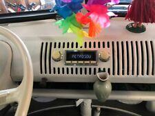 For VW Bus T1 56-73 Vintage Car Radio DAB+ UKW USB Bluetooth Aux-In Chrome Cream