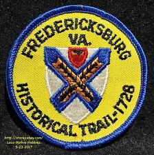 LMH Patch Badge  FREDERICKSBURG HISTORICAL TRAIL  Historic Site Park Military VA