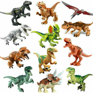 12x Dinos fit Jurassic World Lego Dinosaur Tyrannosaurus TRex Park Raptor Toy