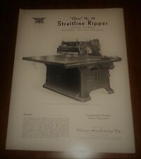 Vintage Circular Oliver Machinery Co. Grand Rapids Michigan Straitline Ripper