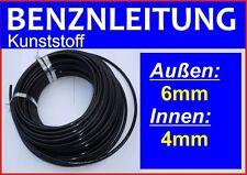 Benzinleitung Kraftstoffleitung Treibstoffleitung KUNSTSTOFF 6mm AD / 4mm ID