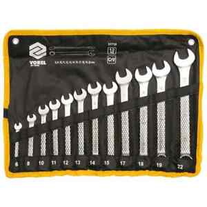 VOREL Combination Spanner Set 12 Piece Hand Tool Accessory Socket Spanners