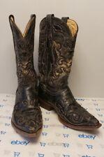 Corral Cowboy Western Boots Lizard Inlay Sniptoe Mens 8.5 Vintage