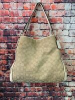 "Coach F36424 Signature ""C' Fabric & Leather Phoebe Shoulder Bag Retail $399"