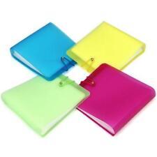 12 Ärmel CD DVD Disc Tasche Tragen Brieftasche Case Holder Storage Klar Cover^