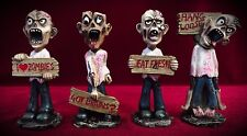 Zombie Mini Figurines Set of 4 - Gift Decor-Undead Horror Dead Zombies Statue