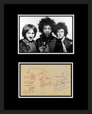 Jimi Hendrix Experience *Auto x 3* Photo Replica Display Framed!