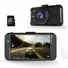 "Car Dash Cam 1080p FHD Dashboard Camera 4""LCD Screen 170°Wide Angle 32gb SD Card"