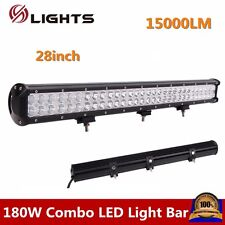 28INCH 180W LED LIGHT BAR WORK CREE SPOT FLOOD OFFROAD SUV UTE TRUCK LAMP 4WD