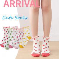 Women Fruits Socks Avocado Banana Strawberry Print Cartoon Cute Cotton Sock
