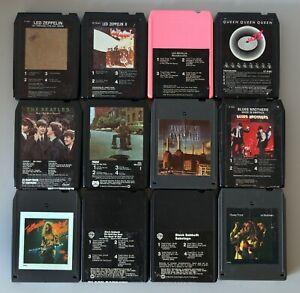 8-Track Tapes 70's Rock Lot of 12~BEATLES,LED ZEPPELIN,BLACK SABBOTH,QUEEN &More