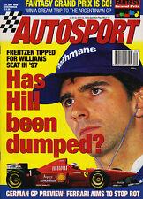 Autosport 25 Jul 1996 - Damon Hill, Heinz-Harald Frentzen, Ferrari,  Blundell.